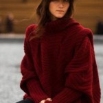 Dark Red Big & long Pullover